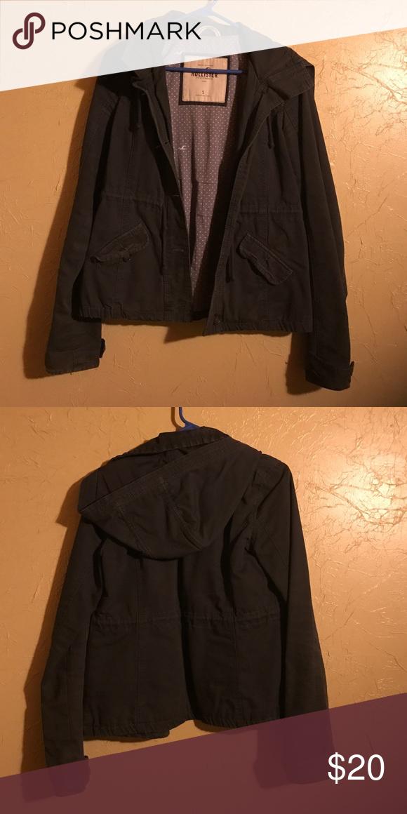 Hollister jacket Gray hollister jacket size small Hollister Jackets & Coats