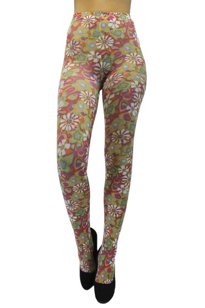49be485c2d153 Retro Daisy Print Tights – Luxury Divas | Legwear | Tights, Tight ...
