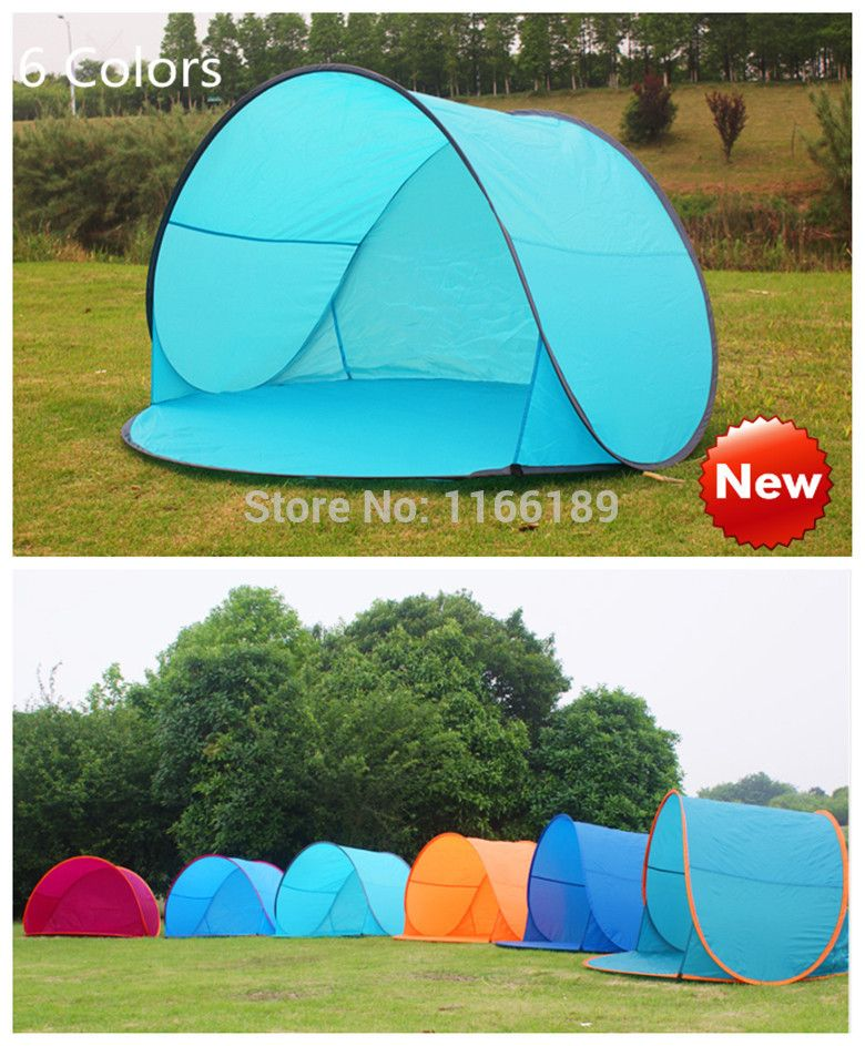 Outdoor c&ing hiking beach summer tent UV protection fully automatic sun shade quick open pop up  sc 1 st  Pinterest & Outdoor camping hiking beach summer tent UV protection fully ...