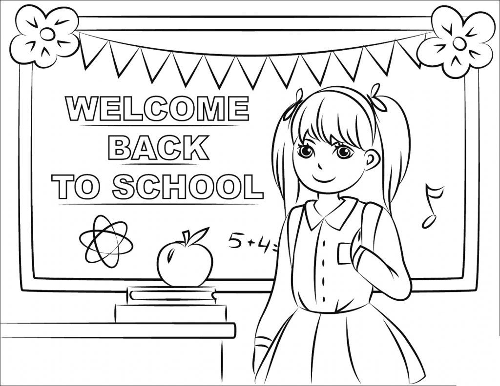 Printable Back To School Coloring Pages In 2021 Kindergarten Coloring Pages Welcome To School Coloring Pages For Boys