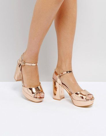 Metallic Platform Heeled Sandal - Rose gold Truffle Good Selling Cheap Price Clearance 100% Authentic Free Shipping Enjoy 60CSFdDMCD
