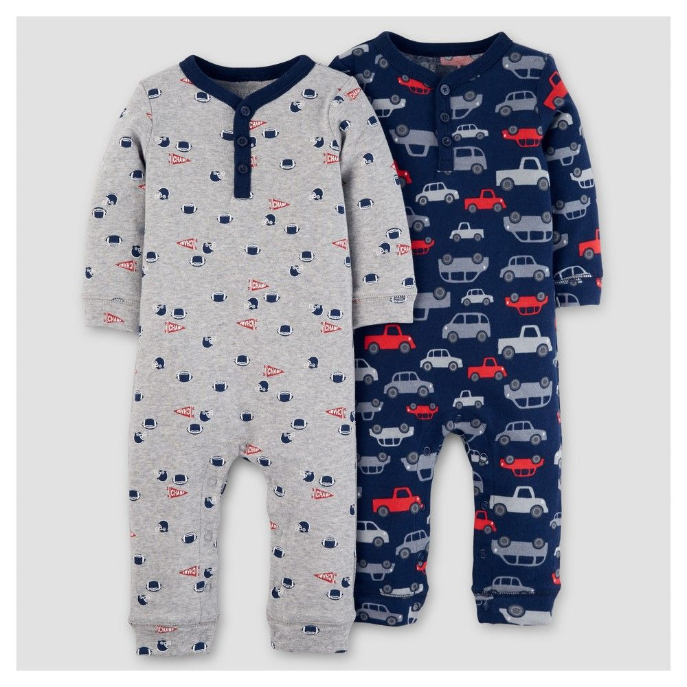 1c0ab5beb Baby Boys  2pk Jumpsuit - Just One You Made by Carter s Navy Cars 9M ...