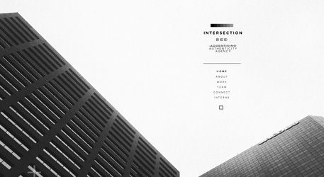 Effective Use Of Cityscape Photography As Background In Minimal Website Intersection Is Web Design Typography Design Design