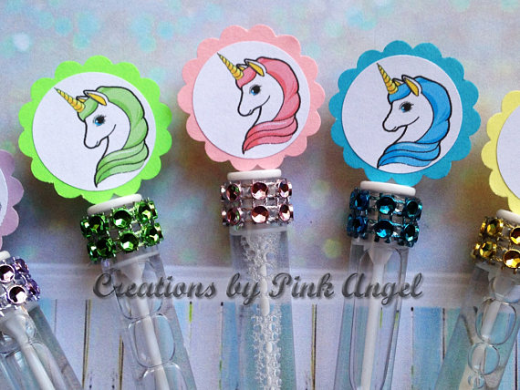 18 Unicorn Bubble Wands Pink Blue Purple Green Unicorn Favors Unicorn Birthday Favors 12 6 Unicorn Party Favors