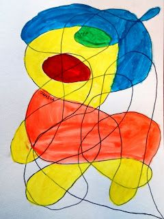 Drawing Lesson Inspired Byjoan Miro Drawing Lessons Kids Art