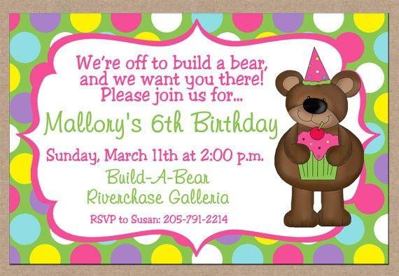build a bear birthday invitations updated invitation free