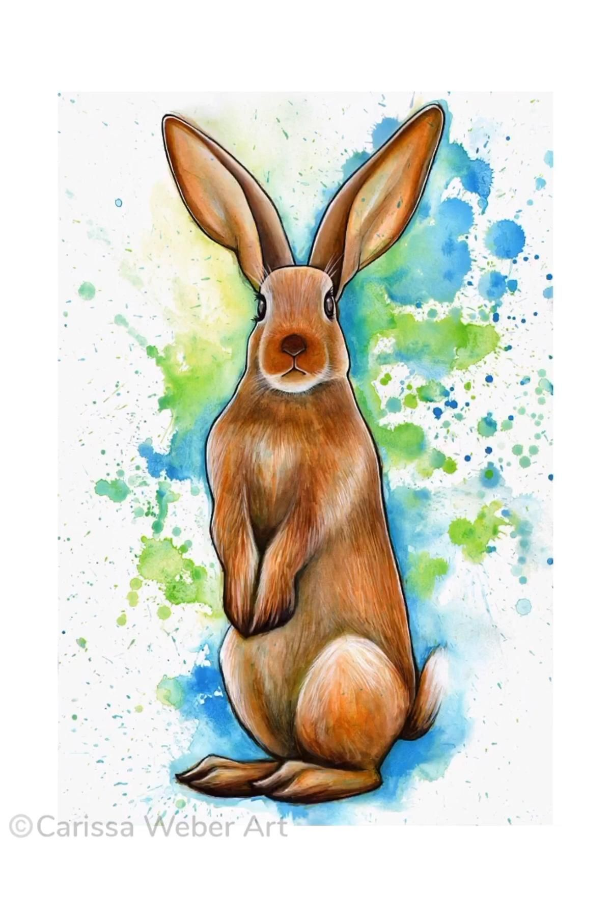 Bunny Speed Painting by Carissa Weber Art   origin