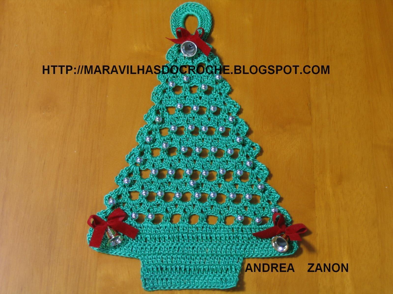 Enfeite De Porta Arvore De Natal Em Croche Arvores De Natal De