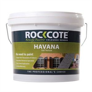 Paint Ext Texture Rockcote 10l Coloured Render Havana Bunnings