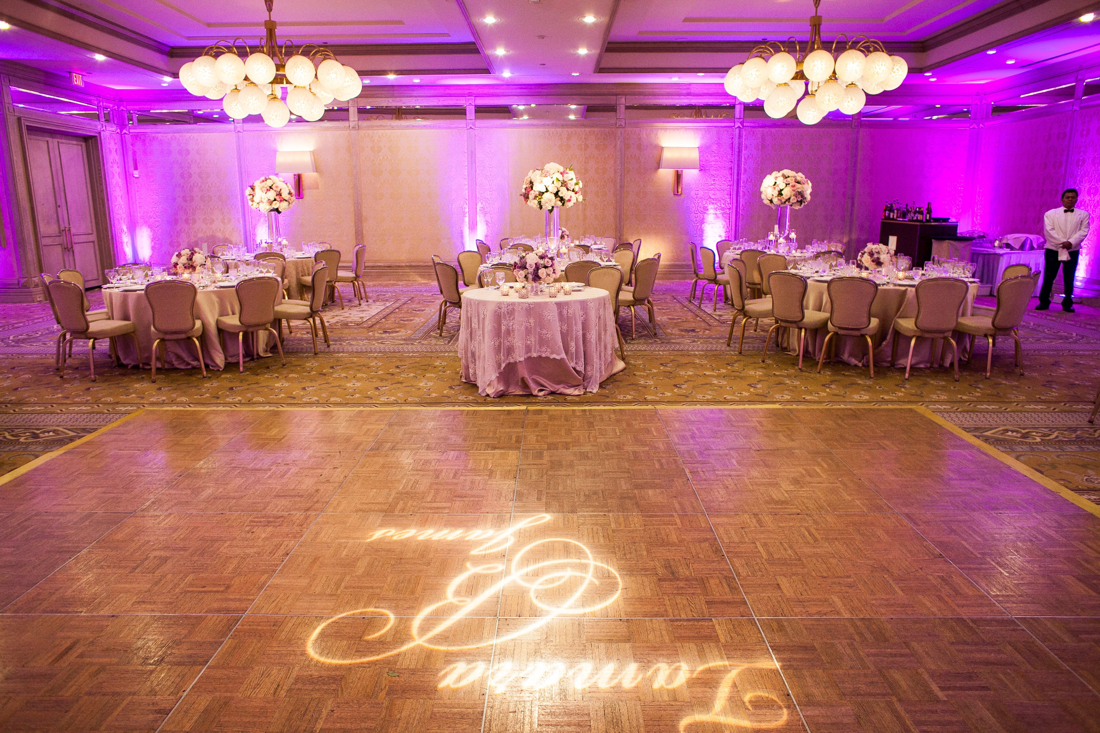 Tamara + James Spring Wedding | Ballroom Reception | Lavender ...