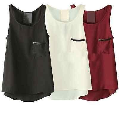 New-Women-Tops-Summer-Loose-Casual-Chiffon-Sleeveless-Vest-Shirt-Tops-Blouse