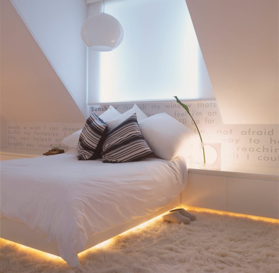9 tipps für raumbeleuchtung im | small spaces, living rooms and spaces, Schlafzimmer entwurf