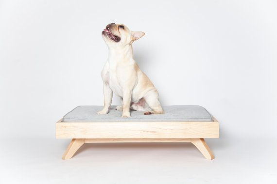 Too Glam For My Pooch Modern Wood Dog Bed The Joey Low Back Bed