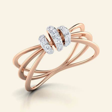 Buy Diamond 3 Bands Knot Ring Jewellery Online - Caratstyle