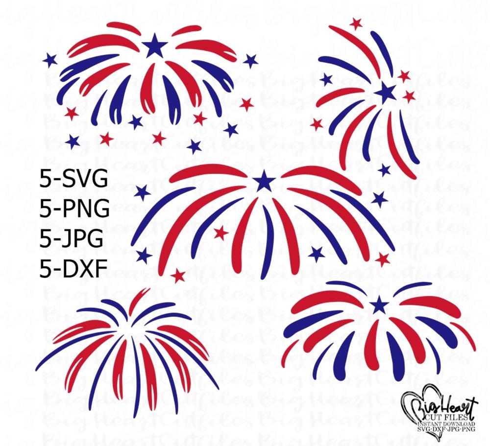 Fireworks Svg Png Jpg Dxf Fireworks Bundle 4th Of July Etsy In 2021 Fireworks Svg Fireworks Clipart Fireworks