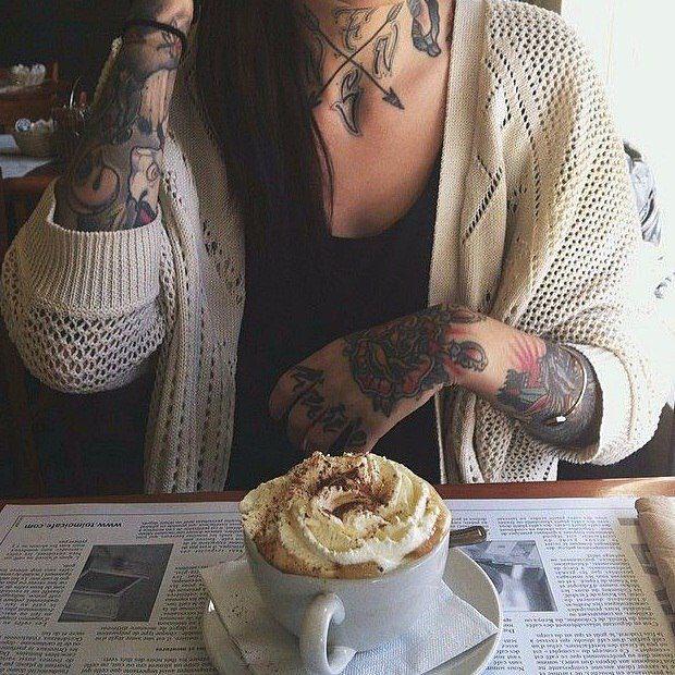 tattoos coffee king expresso latte Neck tattoo