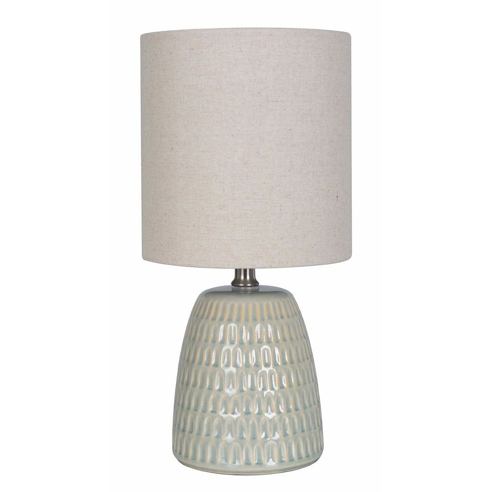 Textured Ceramic Table Lamp Pale Green Threshold Ceramic Table