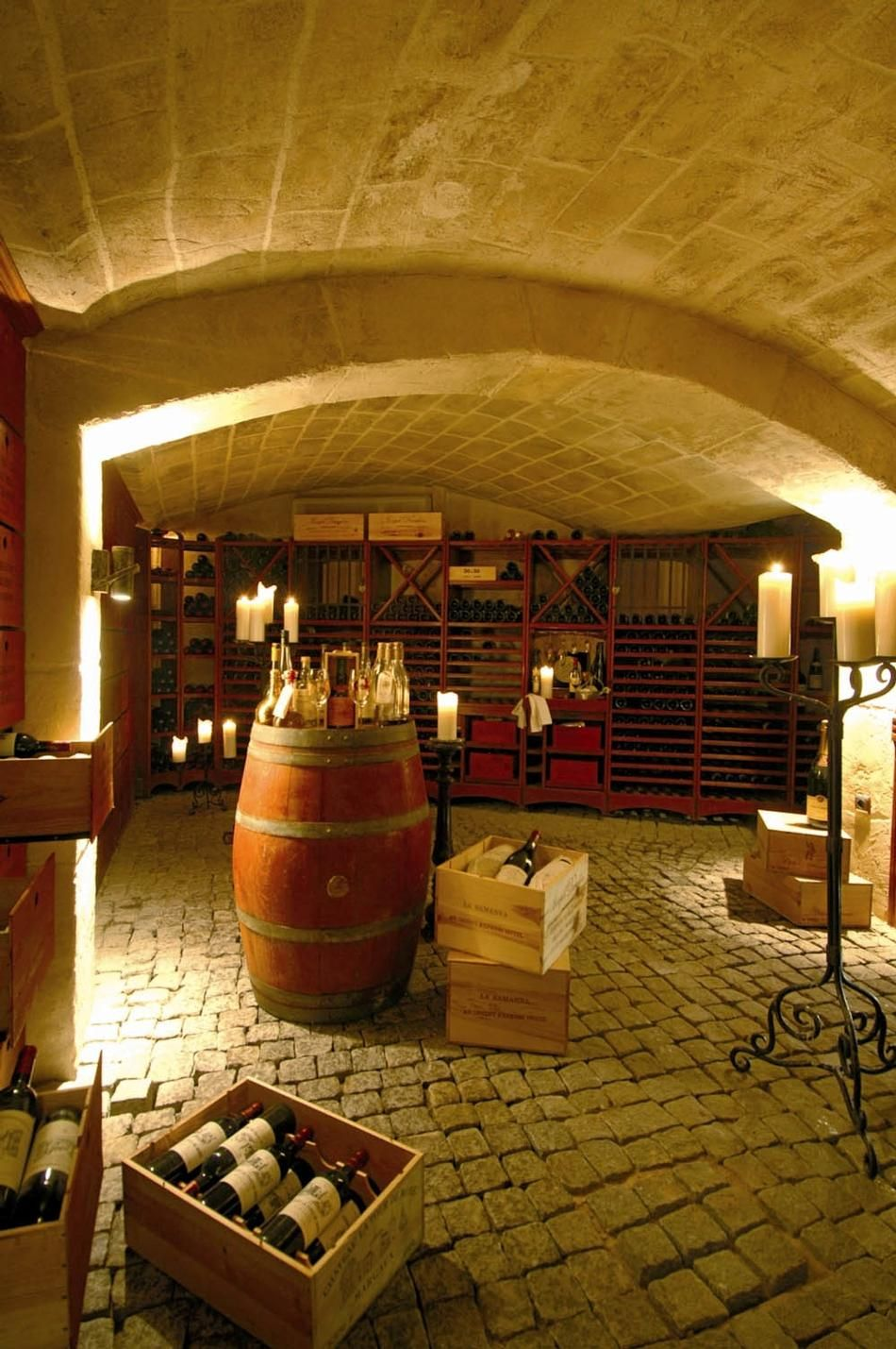 Wine Cellar I Love The Stone And Wood Combination Home