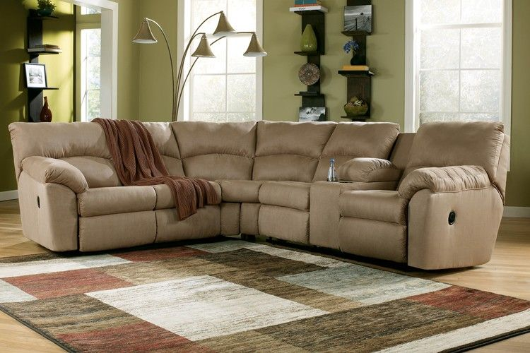 Ashley Amazon Reclining Sectional - Mocha | Sectionals | Raleigh Furniture | Home Comfort Furniture : ashley reclining sectional - Sectionals, Sofas & Couches