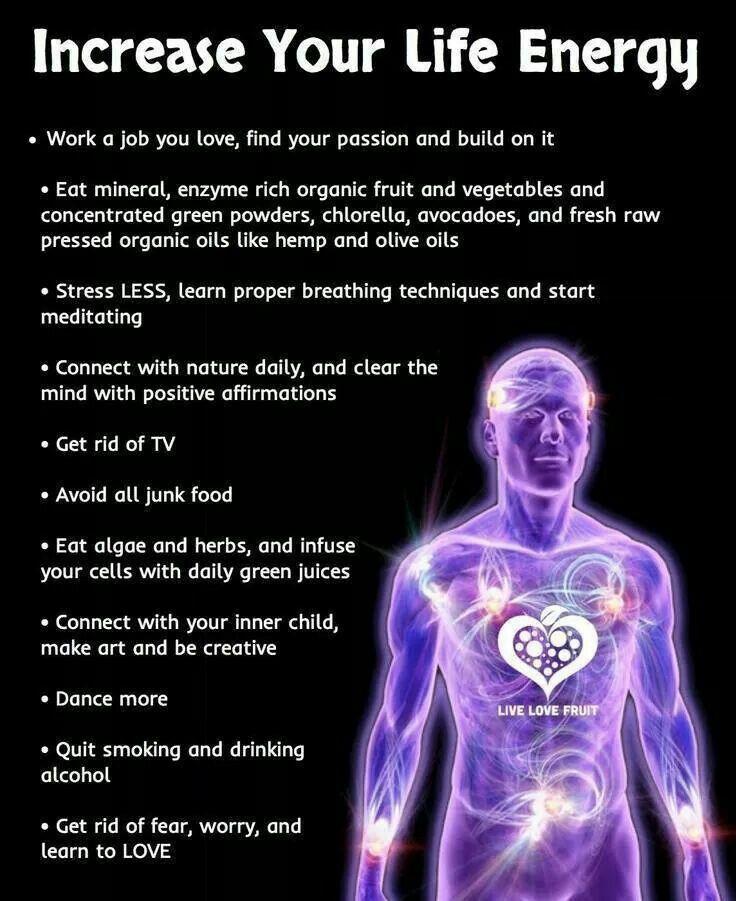 Increase Life energy