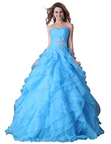 blue rhinestone strapless party dress