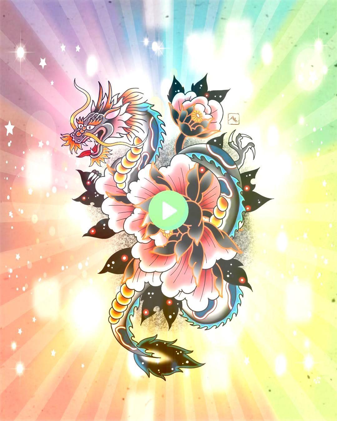 and dragon illustration  tattoo flash 시월  shiwol on Instagram  Peony and dragon illustration  tattoo flash 시월  shiwol on Instagram Peony and dragon illustration  tatt...