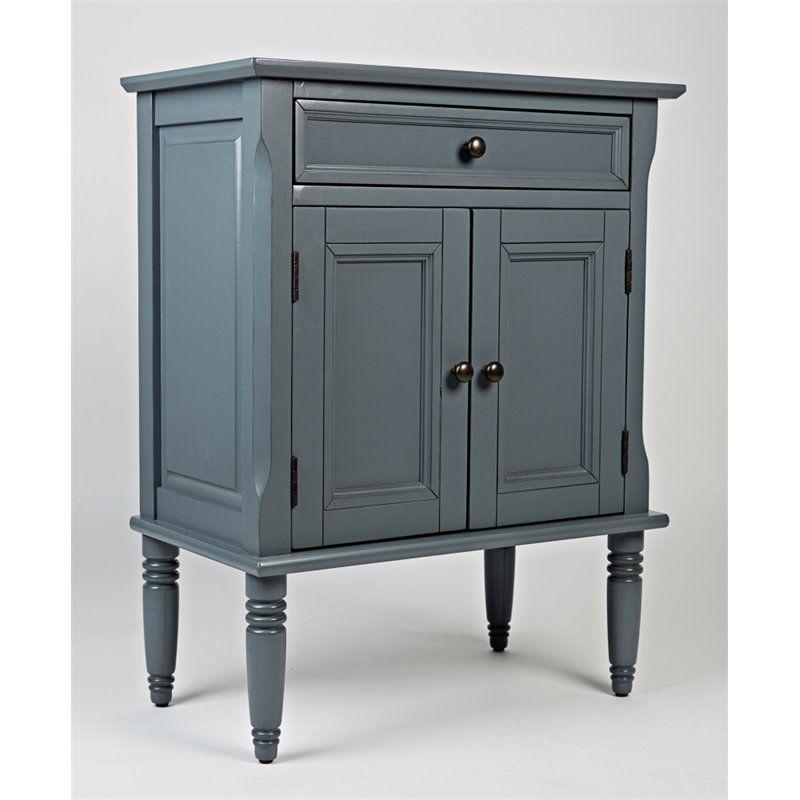 Jofran Avignon Small Accent Chest Cabinet In Cornflower Blue 2902