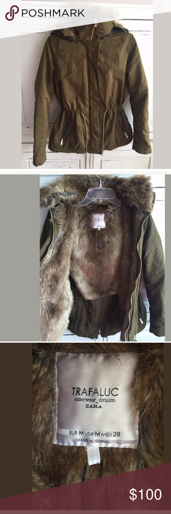 Trade Zara Trf Outwear Division Hooded Fur Lined C Outwear Zara Fur Lined Coat [ 1740 x 580 Pixel ]