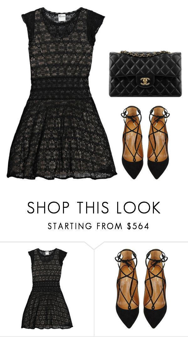 """""""Untitled #5"""" by minimalsimplicity ❤ liked on Polyvore featuring RED Valentino, Aquazzura and Chanel"""