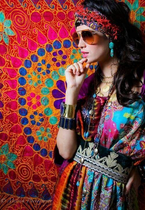 Fleurs Couronne de fleurs couronne de Miss tête bijoux hippy hippie costume robe
