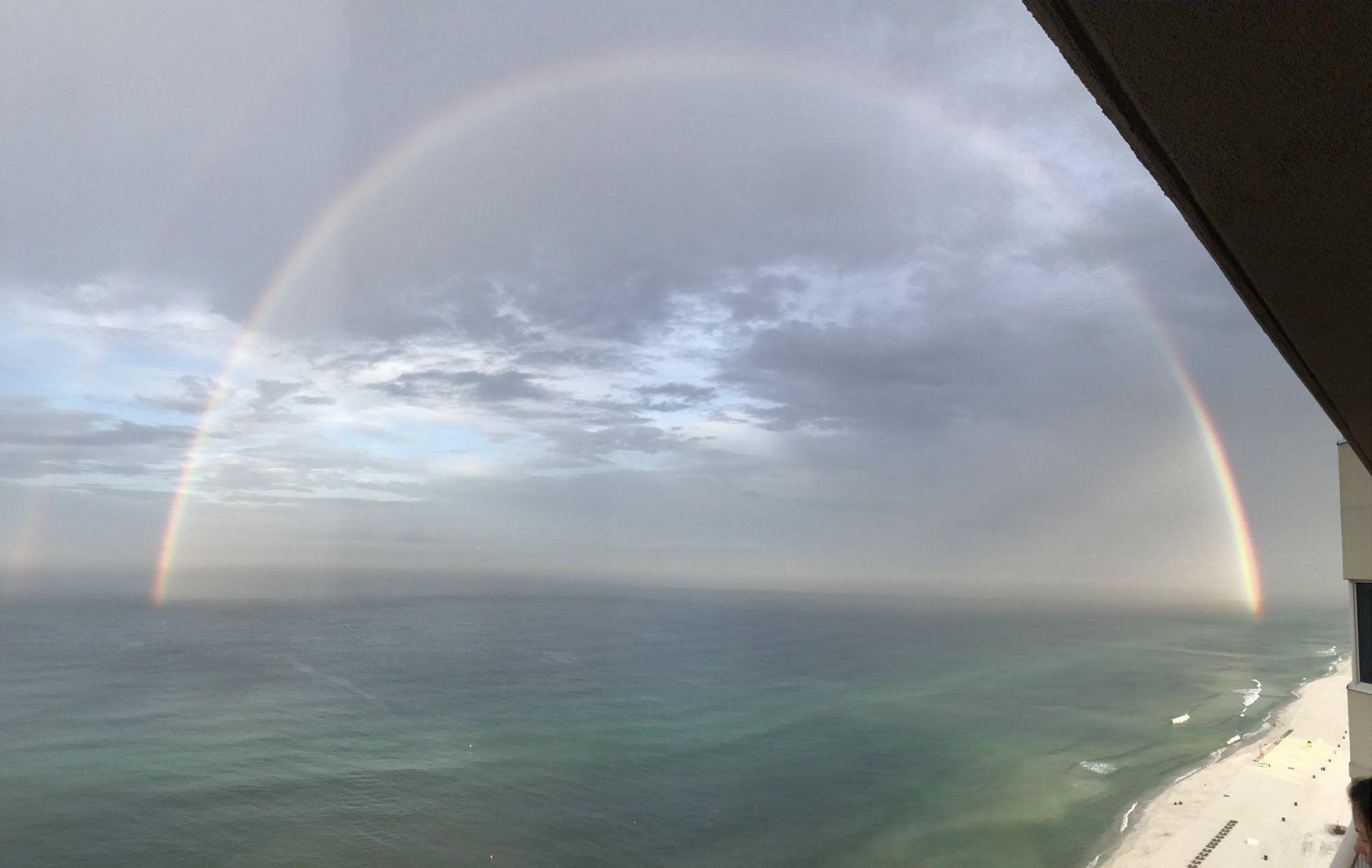 Rainbow this morning at Panama City Beach... photo from @coachscott34