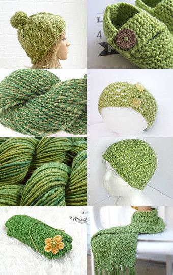 Spring greens by Rachel on Etsy--Pinned with TreasuryPin.com