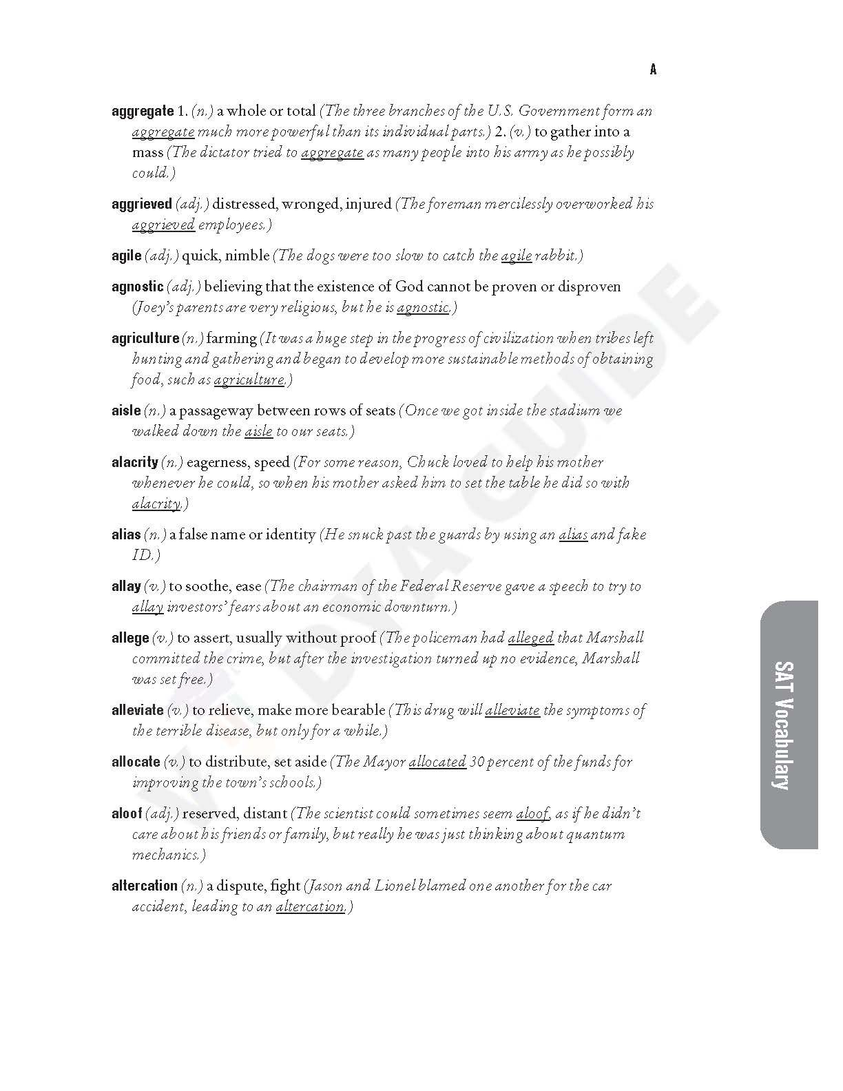 The 1000 most common SAT words PDF document by Vidyaguide - 05