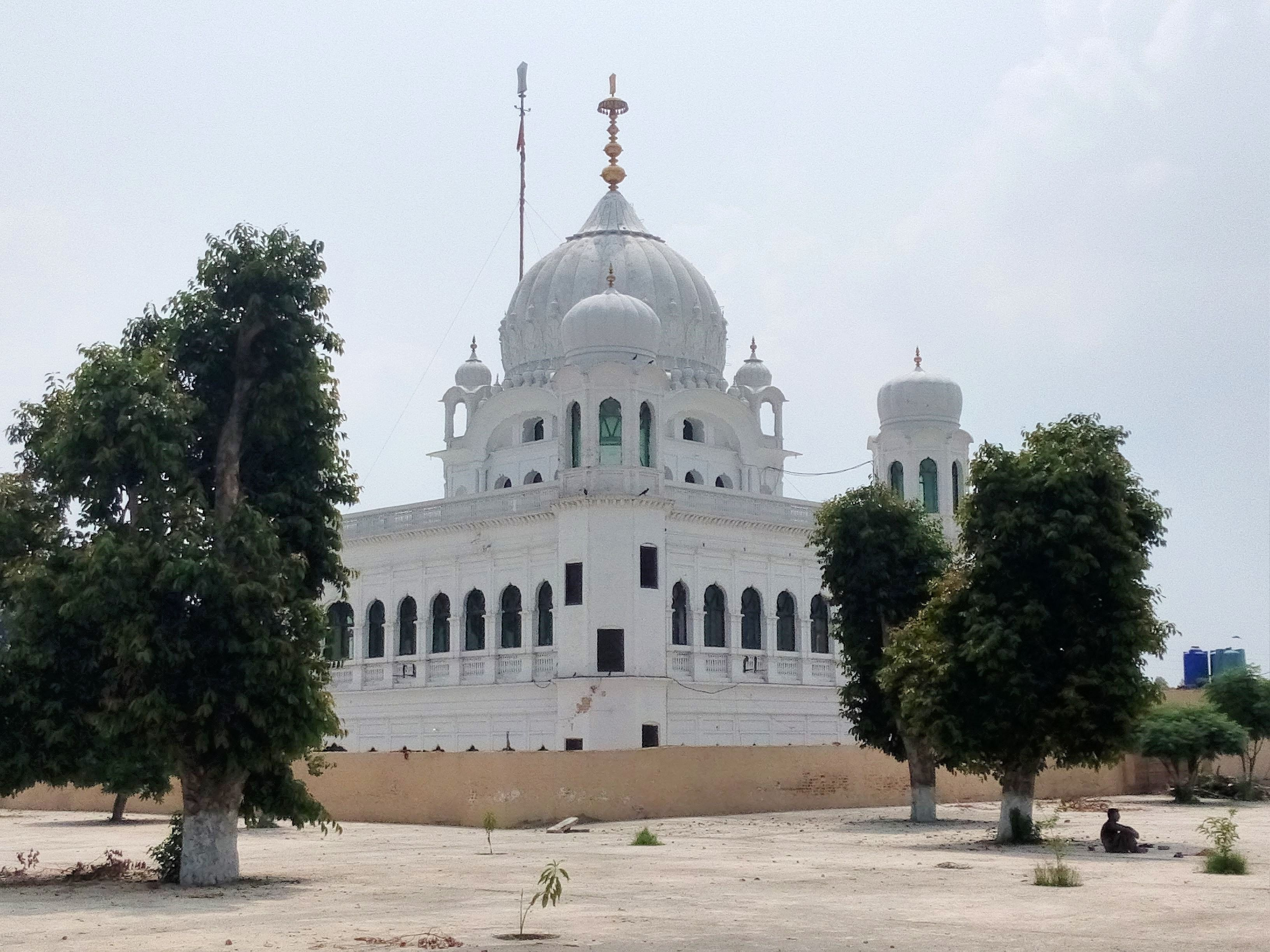 The edifice of Gurdwara Kartarpur Sahib