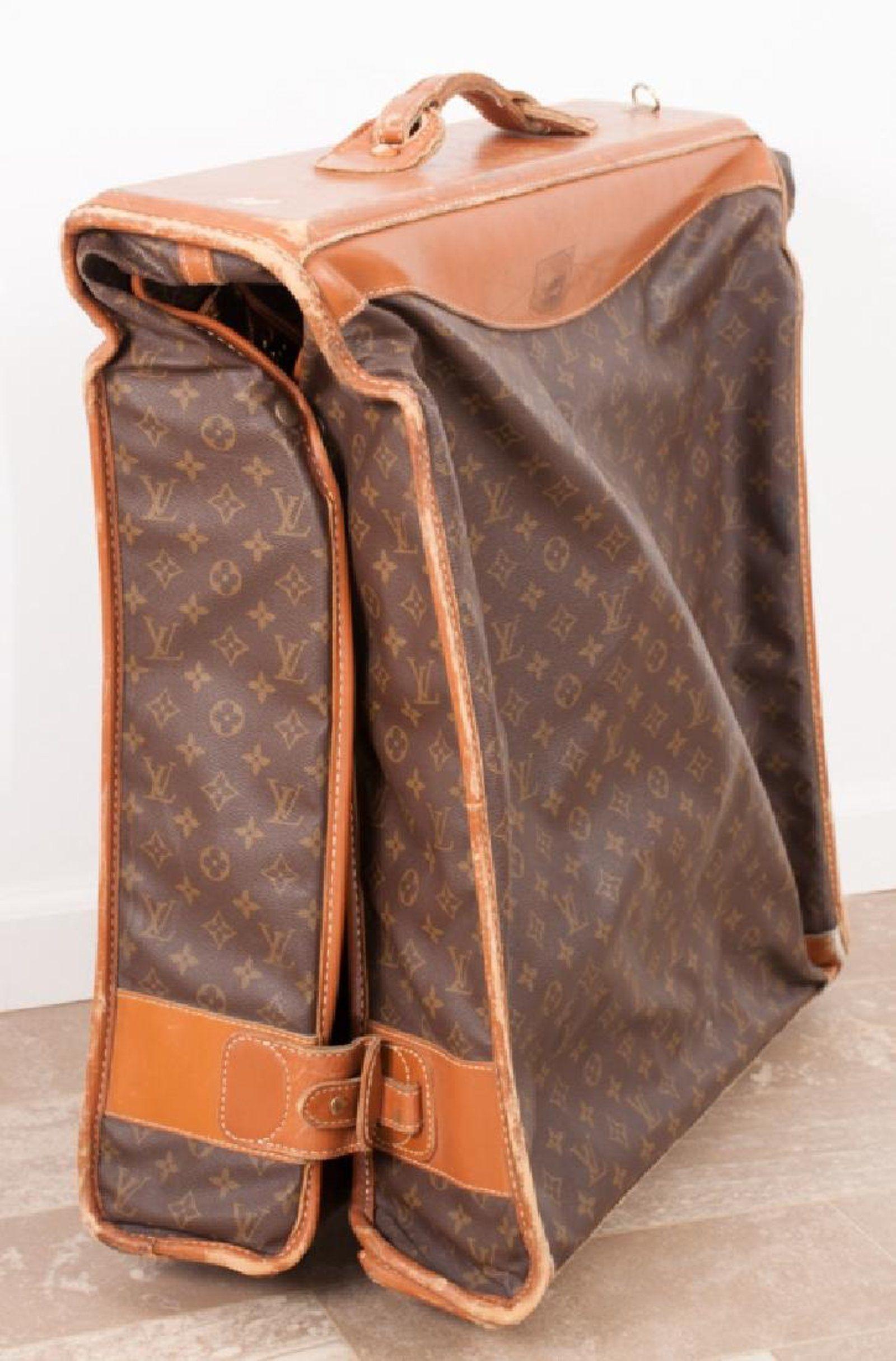 a48f848eef2e Vintage Louis Vuitton Monogram Rolling Garment Bag on