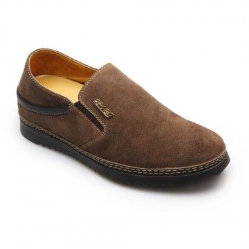 fashion elevator insoles brown casual mens elevator shoes