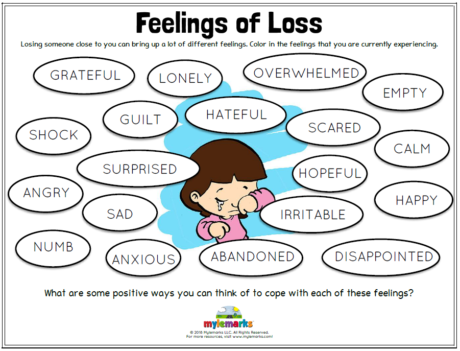 FREE Therapeutic Worksheets for Kids and Teens   Grief ...