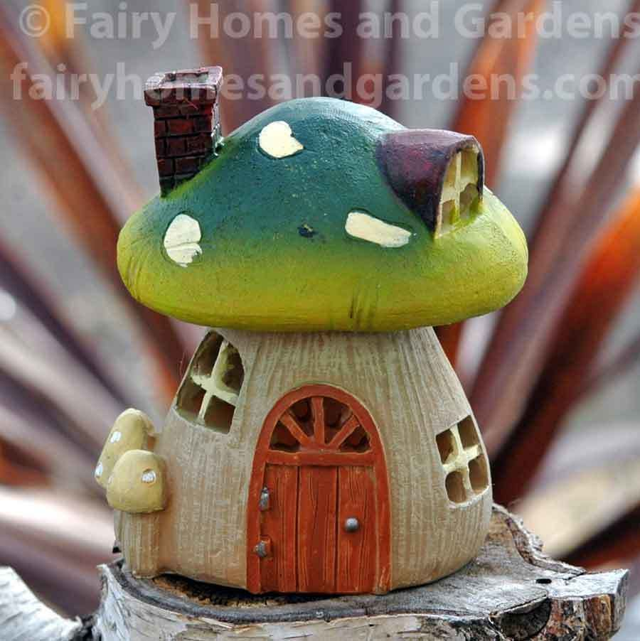Fairy homes and gardens miniature garden lightup mushroom house