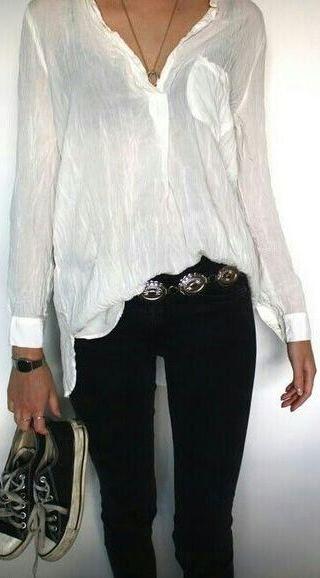 6cff7716d9dc schwarz jeans bluse weiss   Trend   Pinterest   Outfit, Damen mode ...