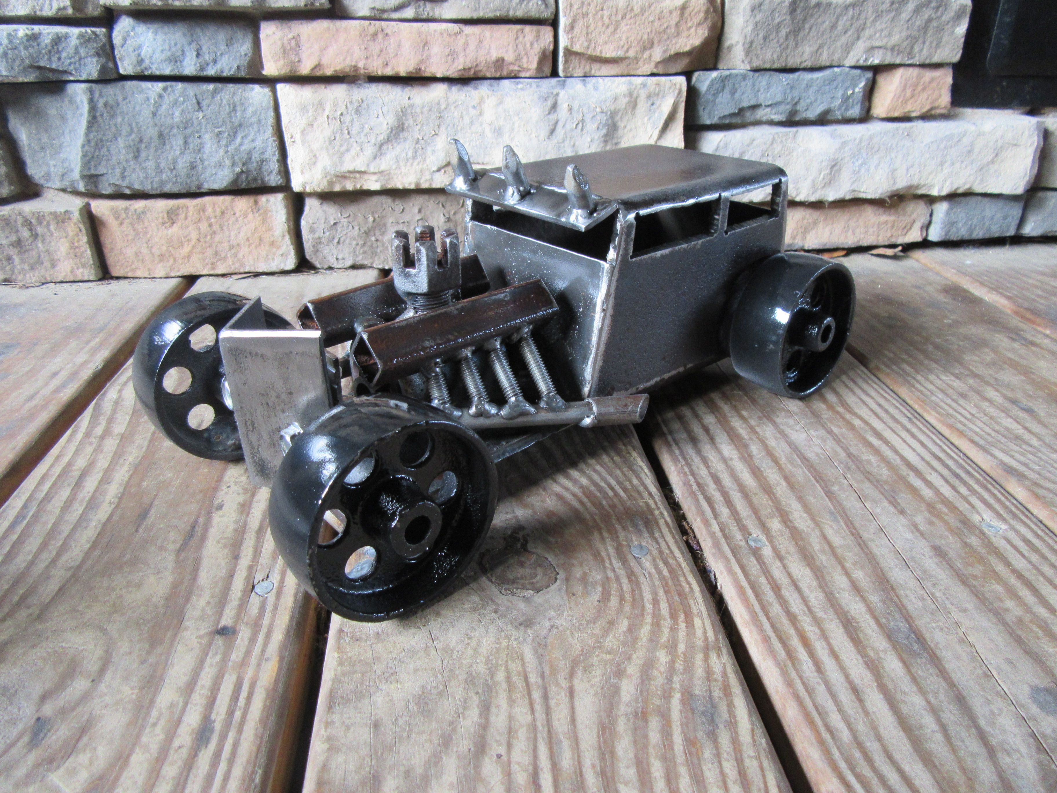 Mad Dog Rat Rod Metal Art By Jplaiasteelart Recycled