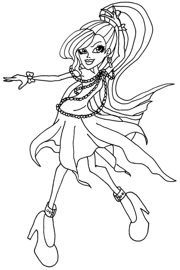 Free Printable Monster High Coloring Pages For Kids Cartoon Coloring Pages Coloring Pages Monster High Dolls
