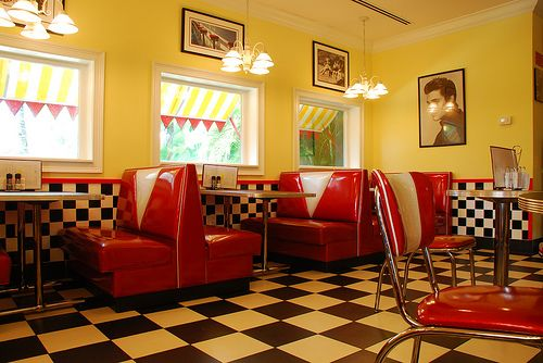 A Kitchen With Vintage Character: 50's Diner, Future Dining Room. I Love How Much Character