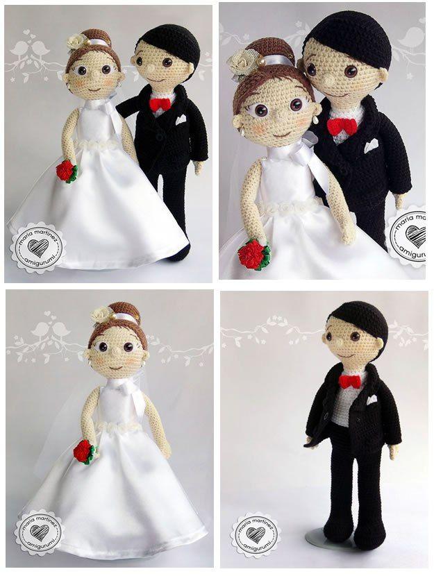Patrón gratis de Novios crochet en amigurumi | bodas ana etchebaster ...