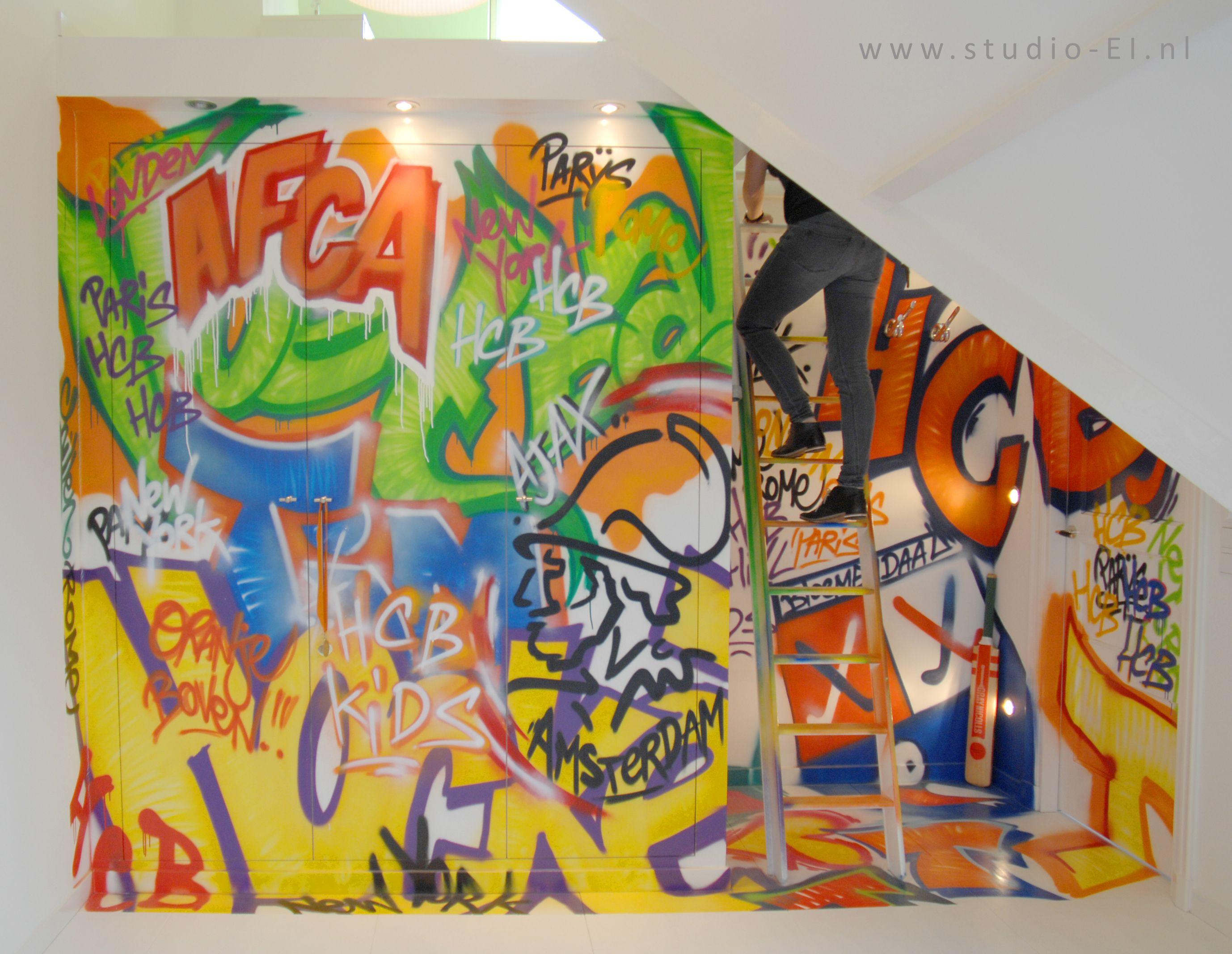 Trasman studio hoogslaper met kast en bureau wit grijs antraciet