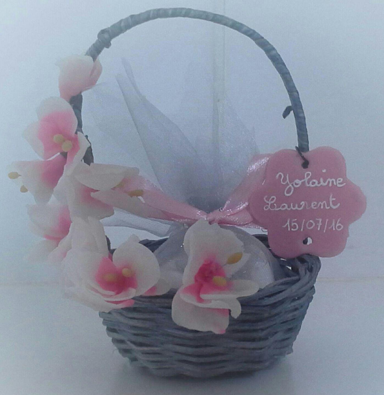 Panier drag es fleurs de cerisier en porcelaine froide p te polym re we pam ma porcelaine - Comment faire fuir les oiseaux des cerisiers ...