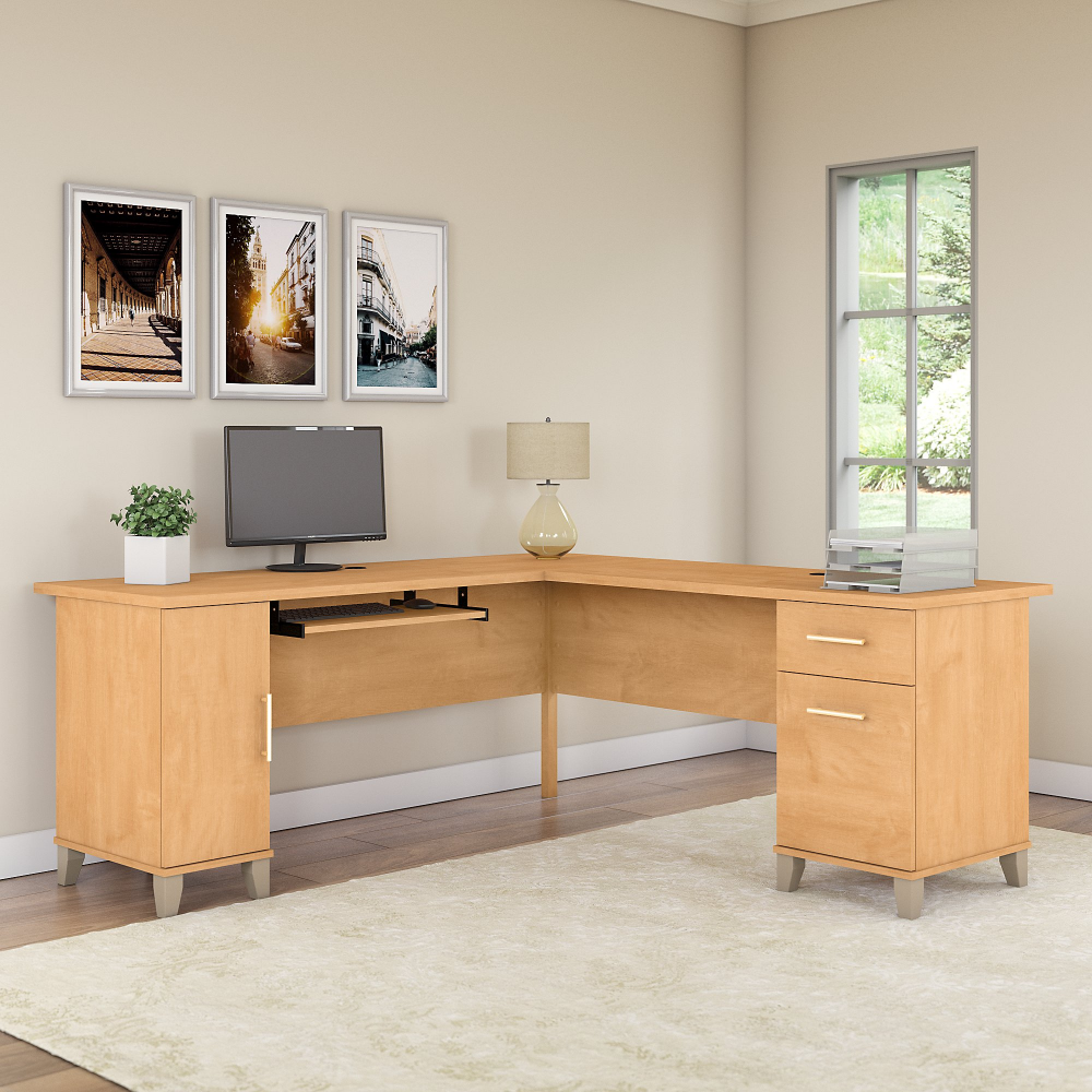 Free 2 Day Shipping Buy Bush Furniture Somerset 72w L Shaped Desk