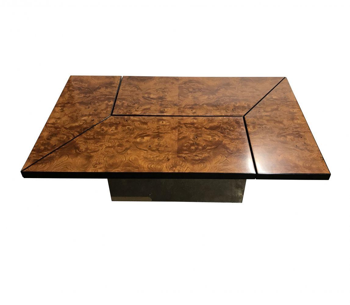 For Sale Vintage Burl Wood Coffee Table By Paul Michel 1970s [ 1000 x 1148 Pixel ]