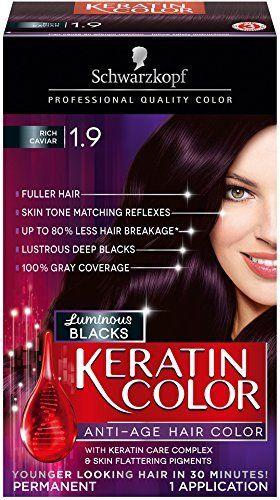 Schwarzkopf Keratin Hair Color Luminous Blacks 1 9 Rich Caviar Pack Of 2 Read More Reviews Of The Product By Visitin Cabelo Cabelo Curto Looks Femininos