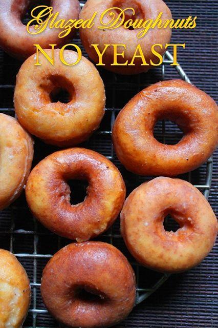 Easy Glazed Doughnuts Recipe How To Make Doughnuts Without Yeast Yeast Free Cake Doughnuts Recipe Yummy Tummy Rezepte Ohne Hefe Hausgemachte Krapfen Glasierte Donuts