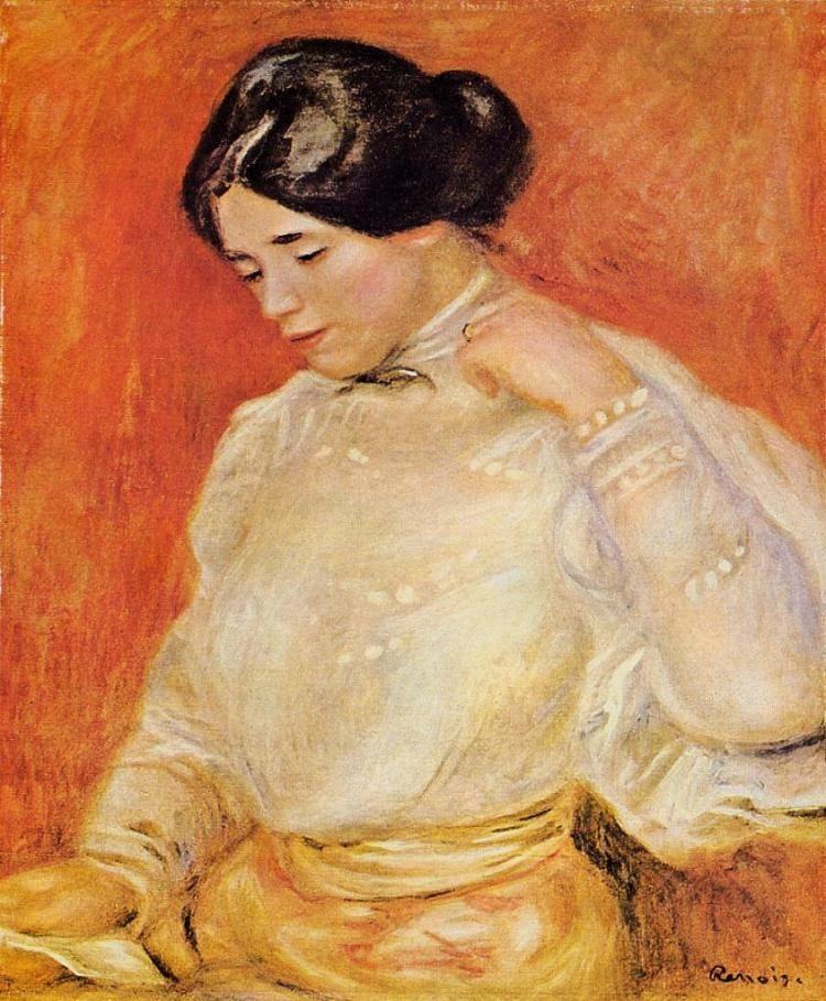 Пьер Огюст Ренуар -  Graziella  (1910) - Открыть в полный размер